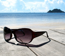 zonnebril verbranding