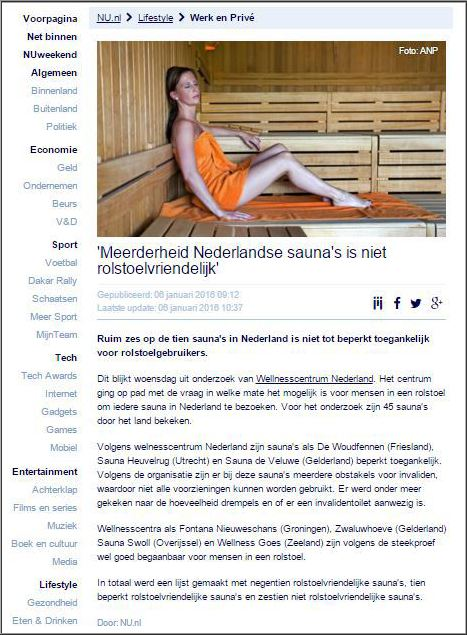 Wellnesscentrum Nederland op Nu.nl