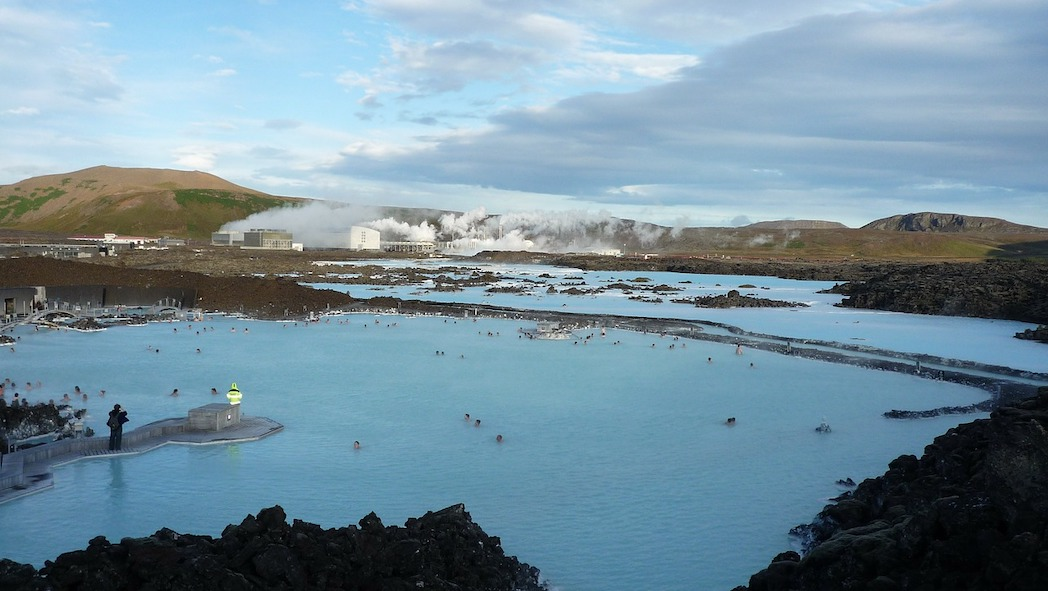 Ontspanning bij Blue Lagoon-ijsland